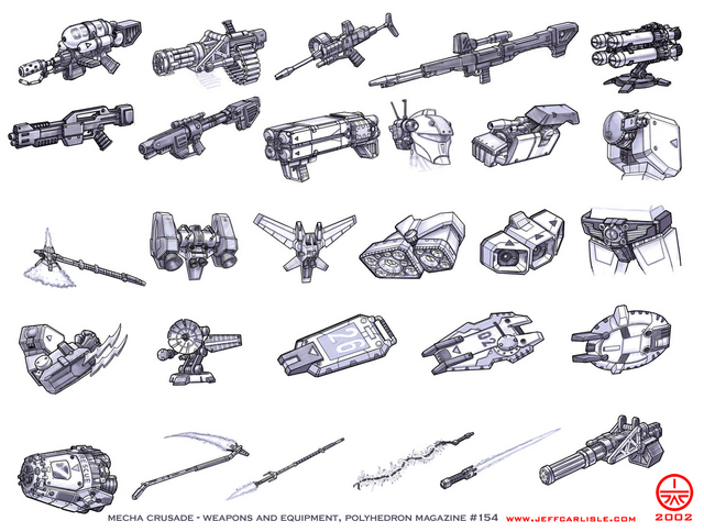 Weapons and Equipment - Mecha Crusade - Polyhedron Magazine, Issue 154