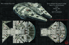 Star Wars: Folded Flyers - Millenium Falcon Spot Illustration and Paper Airplane Textures