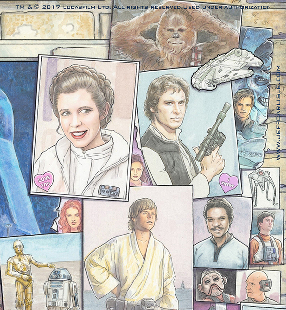 "Star Wars Celebration Orlando 2017 print -  ""Yesterday, Today, Tomorrow"" Detail"