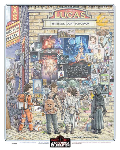 "Star Wars Celebration Orlando 2017 print - ""Yesterday, Today, Tomorrow"""