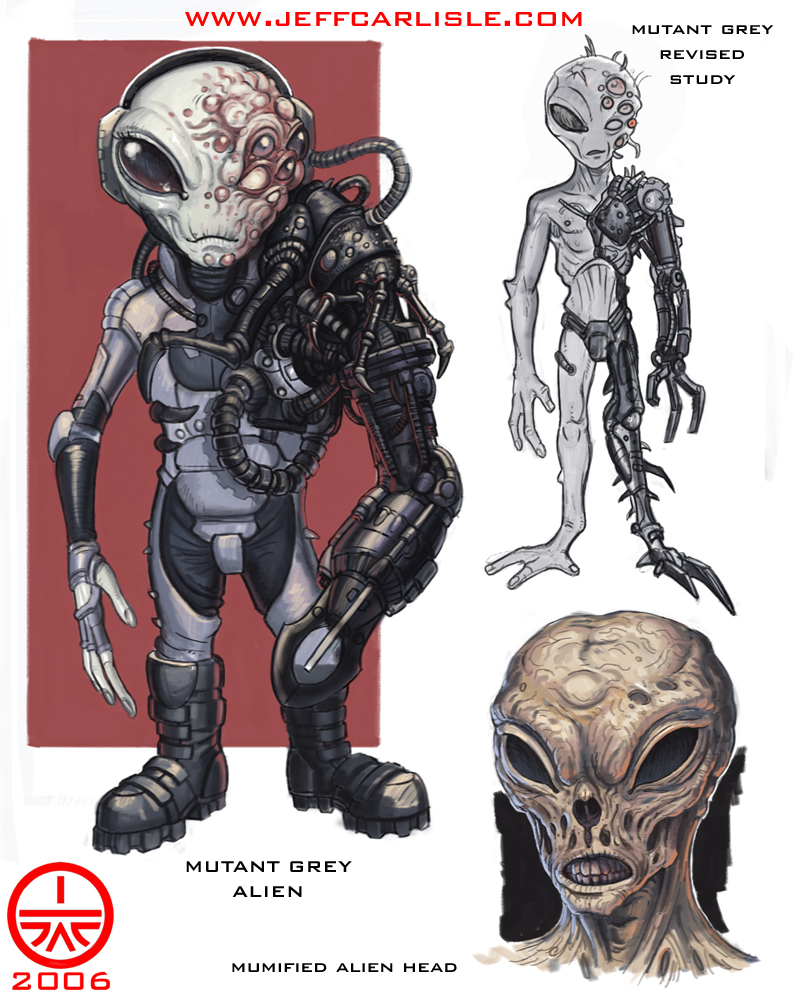 Monsters - Mutant Grey Alien