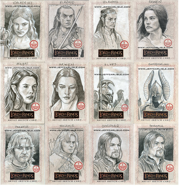 Lord of the Rings Masterpieces II Sketchcards - part 5