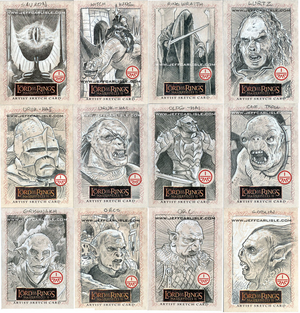 Lord of the Rings Masterpieces II Sketchcards - part 6
