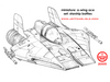 Star Wars Miniatures - Starship Battles - A-Wing Fighter Ace