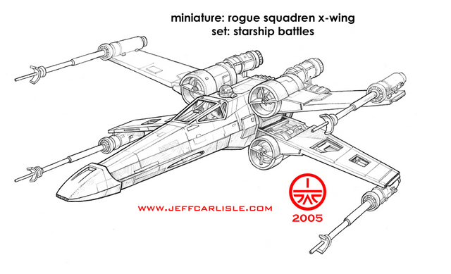 Star wars miniatures starship battles rogue squadren x for Star wars x wing coloring pages