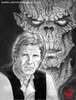 Portrait of an Older Han Solo, with Yuuzhan Vong (2000)