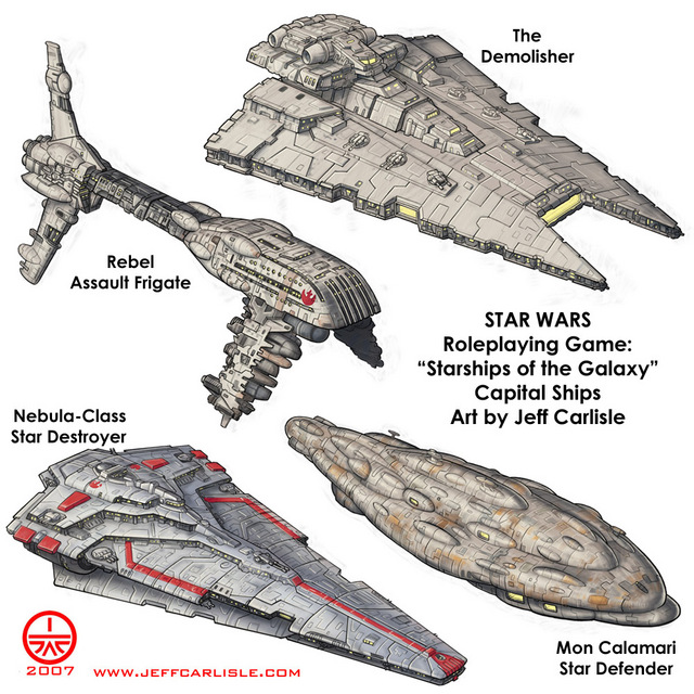 Star Wars RPG Starships Of The Galaxy