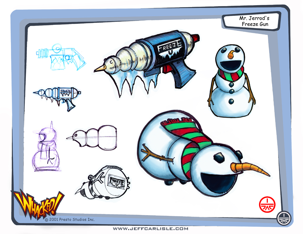 Whacked! Concept booklet - page 07 - Mr. Jerrod's Freeze Ray