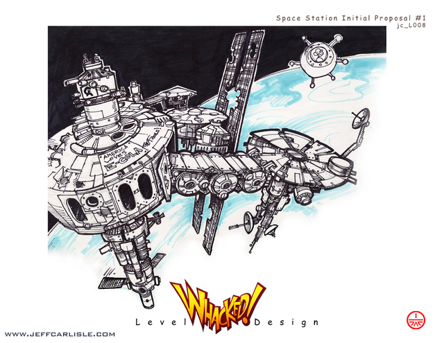Whacked! Concept booklet - page 09 - Spacestation - Initial Proposal #1